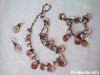 Набор: ожерелье, браслет и серьги Осеннее очарование